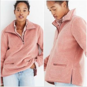 Madewell Sherpa Pullover, size small